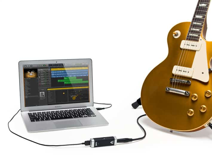 how to connect guitar amp to computer