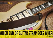 which end of guitar strap goes where