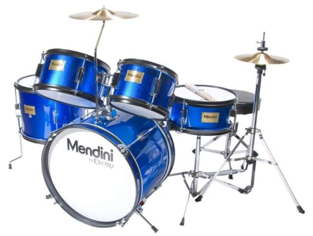 Mendini MJDS-5-BL - best beginner drum set