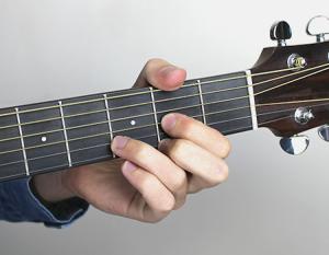 guitar - d major chord